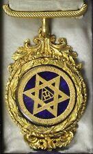 More details for masonic royal arch jewel by john acklam original case - super rare