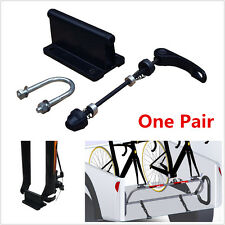 2x Bicycle Quick Release Fork Mounts Rack Carrier For Chevrolet GMC Pickup Truck