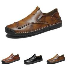 38-48 Mens Leisure Faux Leather Shoes Pumps Slip on Loafers Driving Moccasins L
