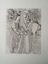 MAURICE SAVIN Gravure eau forte original etching nude art deco curiosa 1940