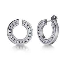 Titanium Stud Earrings Stone Set Large Earrings 20mm