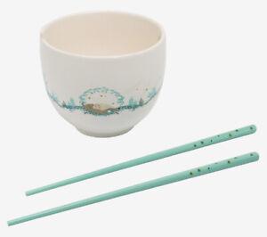 Studio Ghibli My Neighbor Totoro Sleeping Ramen Bowl With Chopsticks