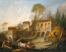 Imaginary Landscape by Francois Boucher 1734 Old Masters 13x16 Print