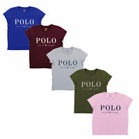 Polo Ralph Lauren Womens Classic Crew T-shirt Embellished Logo Xs S M L Xl New