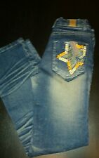 Guess Jeans Embelished Blue Denim (Junior's) Size 25 Inch Waist