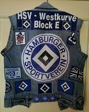 Hamburger SV, HSV, Fan- Kutte, Weste, Levis, 20(!!!) Aufnäher, 10 Pins, TOP!!!
