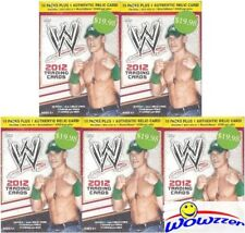(5) 2012 Topps WWE EXCLUSIVE HUGE Factory Sealed 10 Pack Blaster Box-5 WWE RELIC