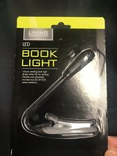 Living Solution LED Book Light, Clip-On, Includes Batteries, SEALED