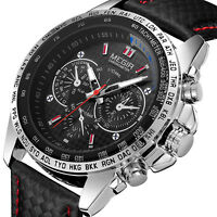 MEGIR Mens Military Stainless Steel Analog Sport Quartz Wrist Watch Waterproof L