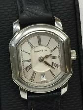 Women's Tiffany & Co Mark Coupe Stainless Steel Quartz Watch Silver Dial Roman #