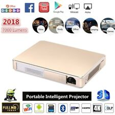 "300"" 4K Android Smart Home Cinema 3D WIFI 7000 Lumens 1080P DLP Projector HDMI"