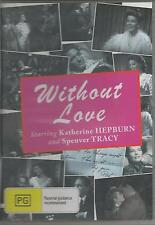 WITHOUT LOVE STARS KATHERINE HEPBURN AND SPENCER TRACY NEW ALL REGION DVD