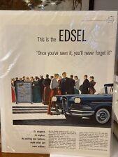 1958 Ford Edsel Citation 4 Door Ad 1958 Ford Trucks Ad Pickup Ranchero 2 page