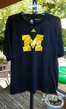 Adidas Michigan Wolverines black Large CLIMALITE Shirt