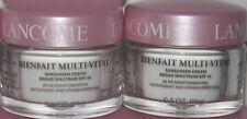 2 Lancome Bienfait Multi Vital Day Cream Spf 30 0.5 oz /15g each Authentic Fresh
