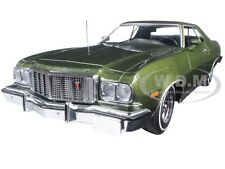 1976 FORD GRAN TORINO DARK GREEN METALLIC 1/18 DIECAST MODEL BY GREENLIGHT 19018
