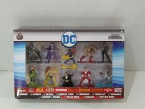 Jada DC Nano Metalfigs 10-Pack Batman Batgirl Black Adam Shazam Catwoman Hawkman