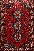 Excellent Tribal Handmade Abadeh Area Rug 6x10 Vintage Geometric Oriental Carpet