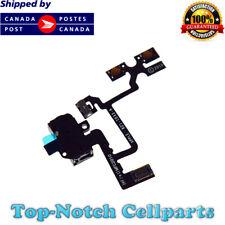 iPhone 4 4G Headphone Audio Jack Volume Switch Button Flex Cable GSM - Black