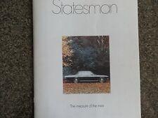 HOLDEN 1971 HQ STATESMAN BROCHURE INCL COLOUR CHART 100% GUARANTEE.