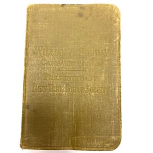 William Billy Sunday Evangelist Campaign Edition Early Pocket Bible Signed