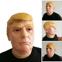 Halloween Realistic Latex Donald Trump Costume Mask Masquerade Carnival Cosplay