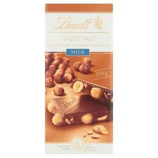 Lindt HAZELNUT With Whole Roasted Hazelnut Milk Chocolate Bar 150g