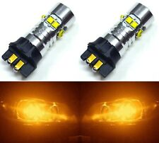 LED 50W 12181 PW24W Orange Amber Two Bulb Signal DRL Daytime Light Audi BMW