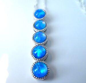 GORGEOUS BLUE FIRE OPAL  PENDANT
