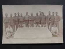 Group Portrait: Uniformed Soldiers & Their Dog - C.A.C.R.H.A. Old RP Postcard