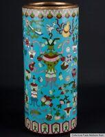 China 20. Jh. A Chinese Cloisonne Enamel Sleeve Vase - Vaso Cinese Chinois Chino