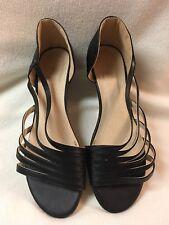 New Black galo Regalo Sandals w Silver on Heels