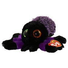 "2018 Halloween TY Beanie Baby Boos 6"" CREEPER the Purple Spider Plush MWMT's"