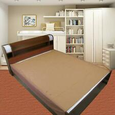 Waterproof Plastic Mattress Protection Sheet King Size - 7.5 x 6.5 ft Brown KU