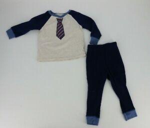 Cutie Pie Baby Boy Pajama Set Size 2T Navy Blue