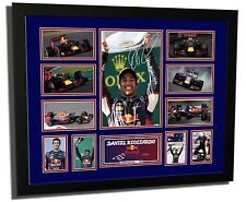 DANIEL RICCIARDO F1 REDBULL RACING SIGNED LIMITED EDITION FRAMED MEMORABILIA