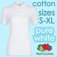 Ladies Polo Shirts Womens Polo T Shirts White Cotton Ladies White Polo Lady Fit