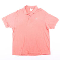 LACOSTE  Pink Classic Short Sleeve Polo Shirt Mens XL