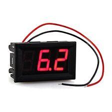 Mini Panelmeter Spannungsanzeige Voltmeter DC 7-120V 20 mA Rot zwei Kabel ET