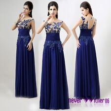 US Long Prom Evening Sequins Dresses Women's Bridesmaid Party Cocktail Ball Gown