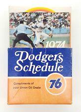 Vintage Lot of 70 Los Angeles Dodgers MLB Baseball Pocket Schedules (1974-1989)
