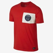 Homme Neuf Nike Paris Saint Germain PSG Football Crest Pocket Tee M 832674 600 Rouge