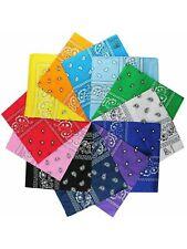 Bandana 2 Pack Paisley With Sewn Edges 100% Cotton Handkerchief
