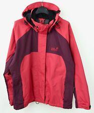 Jack Wolfskin Rain Jacket Women's M Texapore Hooded Red Coat Top RA15