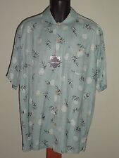 Mens  Indygo Smith Bamboo Camp shirt- Size Large- mint- Breathable, absorbant