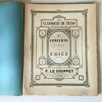 Partitura Las Clásicos de La Piano 3e Concerto F. Ries Op.55 El Couppey J. Maho