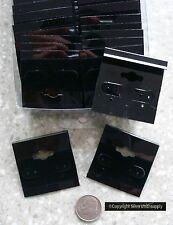 25 Black Velvet Earring Display Cards Post Clip On Earrings Hanging Rail Jd027