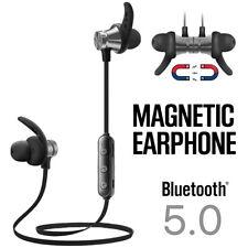 Magnetic Wireless Bluetooth Running Earphones Gym Sport Headphones Sweatproof