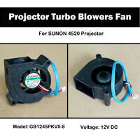 Replacement Projector Turbo Blowers Fan GB1245PKVX-8 Cooling Fan For SUNON 4520