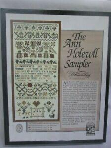The Examplarery Ann Holewll Cross Stitch Sampler Kit Williamsburg COMPLETE
